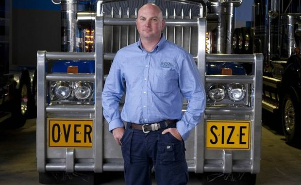 Jon Kelly, owner of Heavy Haulage Australia, stars in the TV series Mega Truckers.