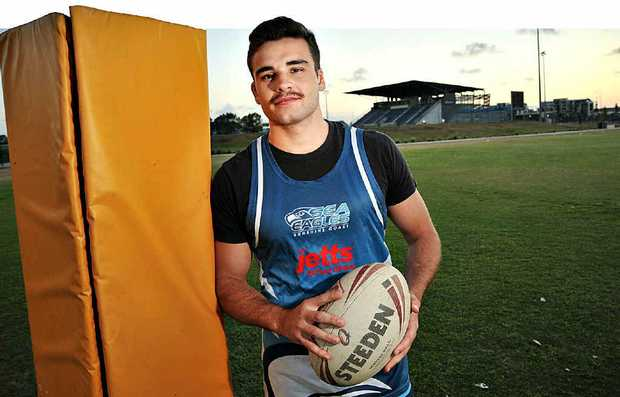 New Sunshine Coast Sea Eagles signing, hooker Jay Lobwein, who has come from the Melbourne Storm under-20s. The team had their first training session of the season.