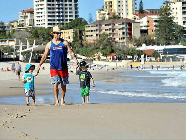 Though Kings Beach in Caloundra was one of many of ours not to rate in the new 101 best beaches of the world list, this family did not seem to mind.