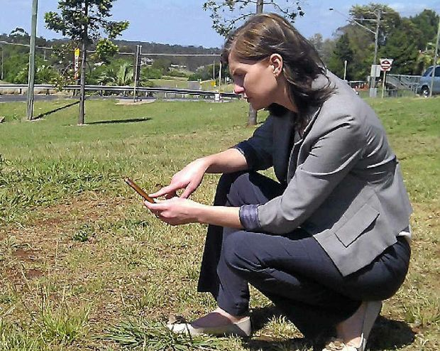 WEED APP: Condamine Alliance science manager Lucy Richardson is leading the development of a smart phone application to help detect weed infestations.