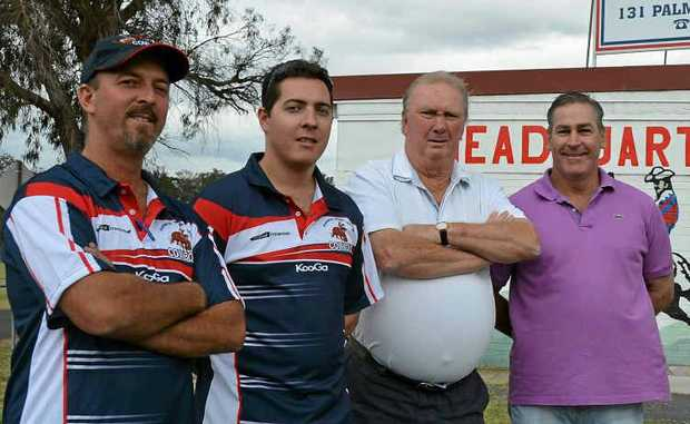 NEW CREW: Cowboys' president Peter Locke, U18 coach David O'Leary, A-grade coach Ken Coles and reserve-grade coach Noel Loudon.