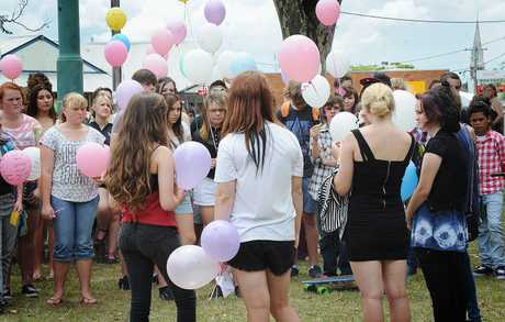 Balloons were released in to the sky in a tribute to 14-year-old car crash victim Ophelia Silcox.