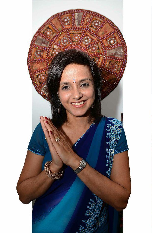 BRIGHT LIGHT: Sony Vasandani celebrates the Hindu festival of Diwali.