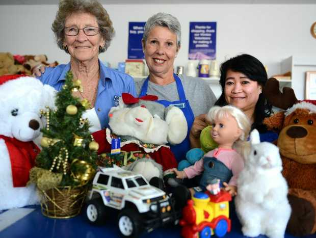 """Dawn Holland, Jennie Leathley and Diane Schneider are urging more residents to """"adopt"""" families in Tweed and ensure a happy Christmas for all."""