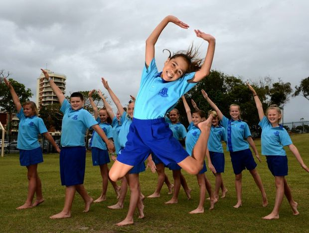 2012 schools spectacular. Rhiana Perkins with the Tweed Heads public school, schools spectacular dance group. Photo: John Gass / Daily News
