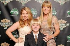 GUESTS OF HONOUR: Bindi, Robert and Terri Irwin attend the Steve Irwin Gala Dinner on Saturday.