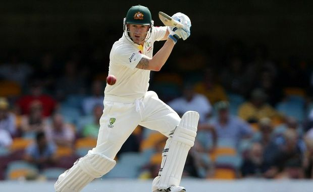 Michael Clarke of Australia bats during day four of the First Test match between Australia and South Africa at The Gabba on November 12 in Brisbane.
