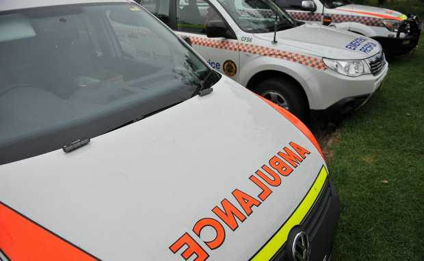 EMERGENCY services say a car has gone off a road in Beerwah.