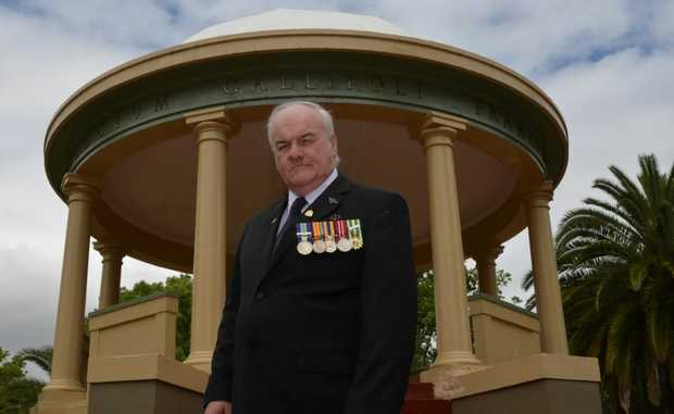 LEST WE FORGET: Vietnam veteran Don Davey dons his medals for Remembrance Day.