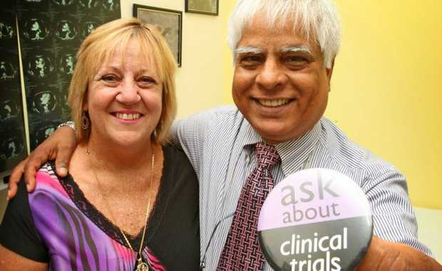 Patient Wendy Tapp with Prof Ehtesham Abdi at Tweed Hospital Photo Blainey Woodham / Daily News