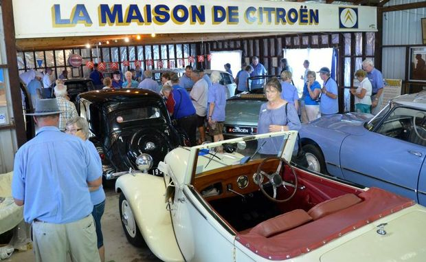 CAR LOVERS: Over 60 people inspected the La Maison De Citroen collection in Gayndah.