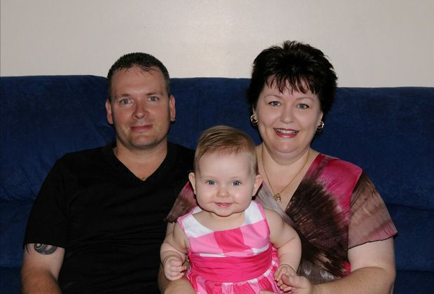 Alan and Julie de Ross and their daughter Jordan, who was created thanks to the wonders of IVF.