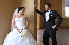 Matthew Hilton and Lauren Robertson tie the knot.