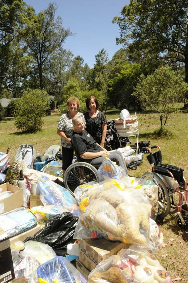 Chris Daley and his wife Serena Daley have been collecting goods to ship to Nigeria. Madonna Brosnan is organising the collection.