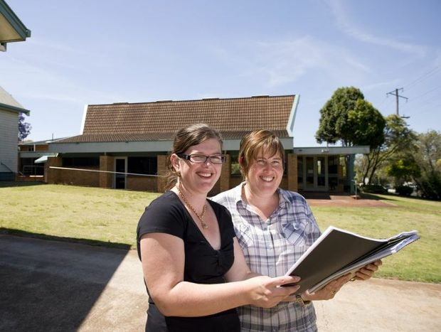 Paula Nicholls (left) and Pauline Newton from Lifeworks Uniting Church, which is selling its buildings and site at the corner of West and Stephen Sts to fund a major project in Glenvale.