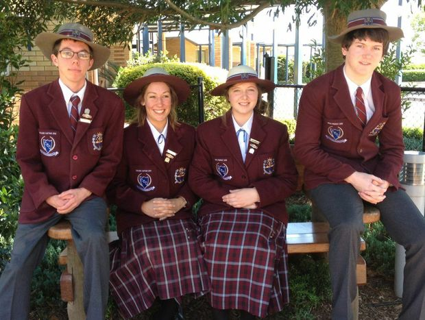 Christian Outreach College award winners (from left) Albert Odendaal, Sarah Patterson, Hannah Oastler and Travis Barker.