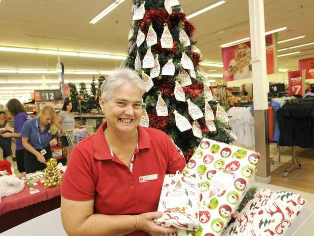 Irene Magann from the Salvation Army launches the 25th anniversary of the Kmart Wishing Tree Appeal.