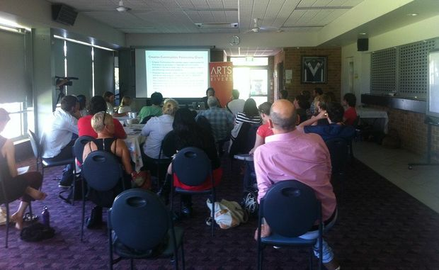 An arts for organisations workshop run by Regional Arts NSW