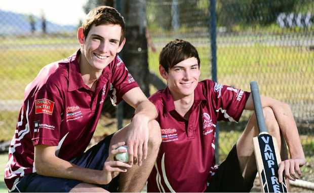 DOUBLE TROUBLE: Talented cricketers and twin brothers Sean (left) and Rowan Lutter have impressed many in Ipswich and beyond this season.