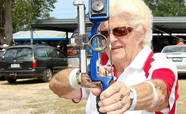 Ballina archer Maureen Taylor, 83, won two gold medals in field and target archery in the over-70 division at the Masters Games on the Gold Coast.