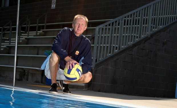 Water Polo Coach Mark Edwards at Murwillumbah Pool Photo Blainey Woodham / Daily News