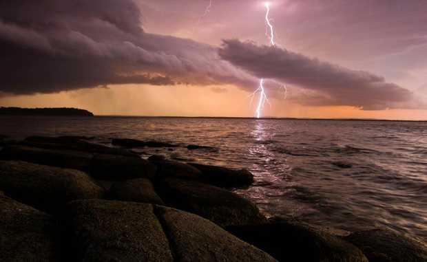 The storm over Lake Wooleweyah. Photo: Cynthia Bodycote