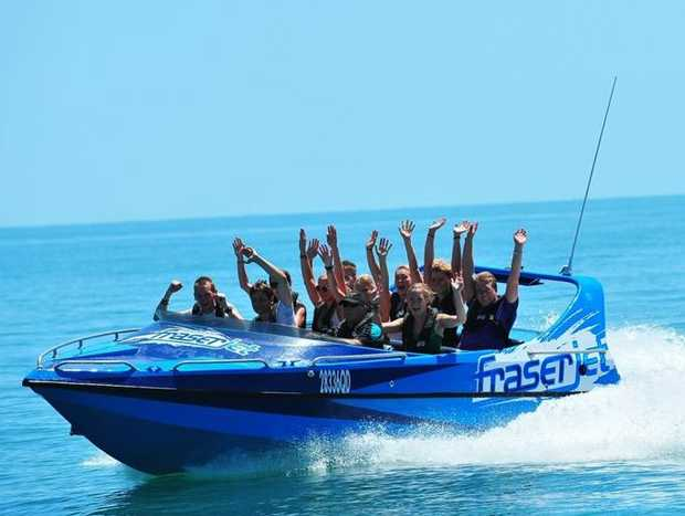 Jet boat thrill rides starting at $50 a person have been introduced by Aquavue Cafe Watersports in Hervey Bay.