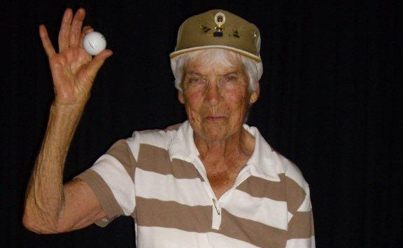Mavis Baggott, 92, may yet turn out to be the oldest Australian to collect a coveted hole-in-one.