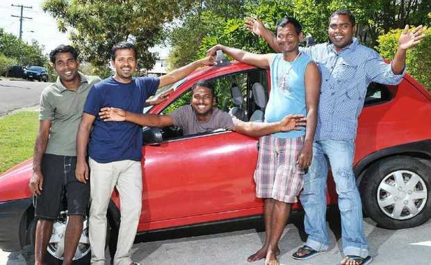 ON A ROLL: The church community in Goodna has banded together to buy a car for a group of Sri Lankan asylum seekers.