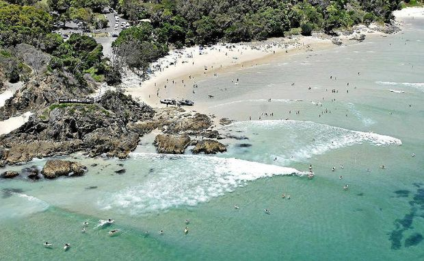 A white pointer shark has been sighted on a number of occasions at The Pass in Byron Bay.