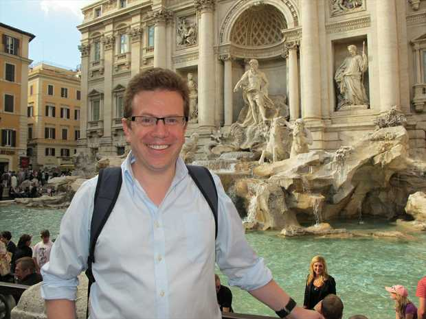 Former Innovation Centre CEO Colin Graham visits the Trevi Fountain in Rome.
