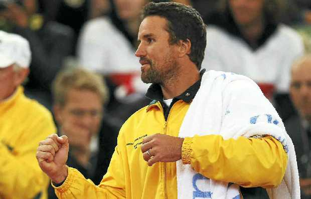 Pat Rafter's participation would provide the Asia-Pacific Tennis League with a huge boost.