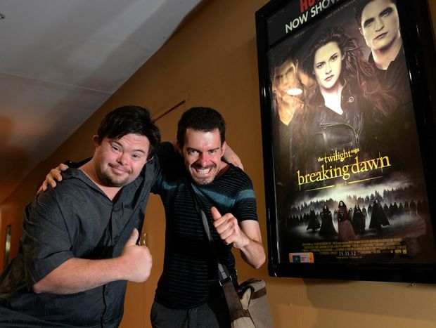 Tim Morrissey and Tim Jasprizza at Hoyts Tweed City for the last Twilight movie.