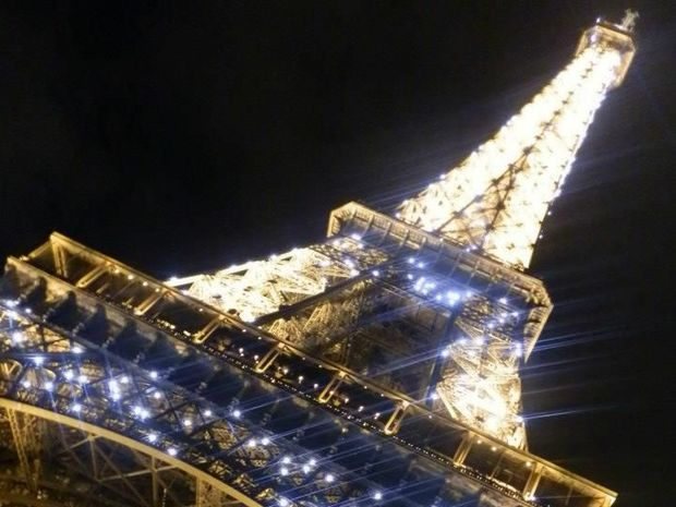 The Eiffel Tower in Paris at night. Photo: Jessica Gretener