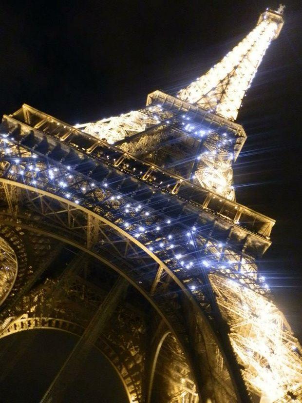 The Eiffel Tower in Paris at night. Photo: Jessica Gretener