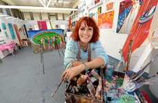 Artist Suzy Buhle has opened a new gallery, Buhle Art Gallery, at Aratula. Photo: Sarah Harvey / The Queensland Times