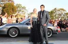 DASHING: Ashleigh Oliver and Cameron Groer looked dashing at their school formal.