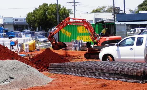 Construction begins on the new McDonald's restaurant near Clifford Gardens.