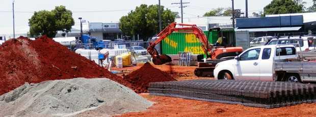 Construction begins on the new McDonald's restaurant near Clifford Gardens.
