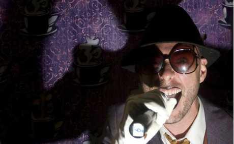 ON THE MIC: Slam master David 'Ghostboy' Stavanger.