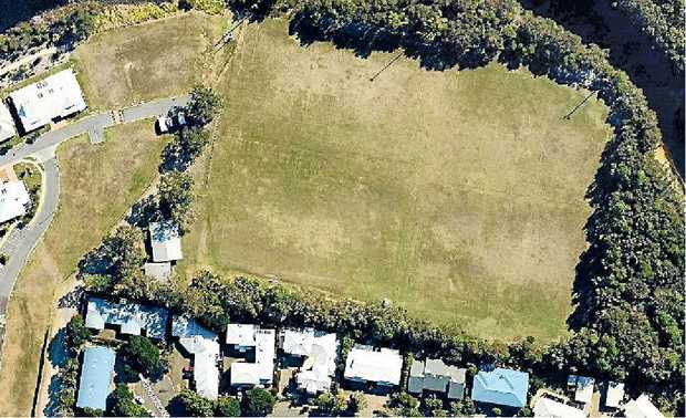 ALL UP IN THE AIR: An aerial view of the Springfield Ave homes backing on to the sporting fields site on which Sundale wants to build a retirement resort.