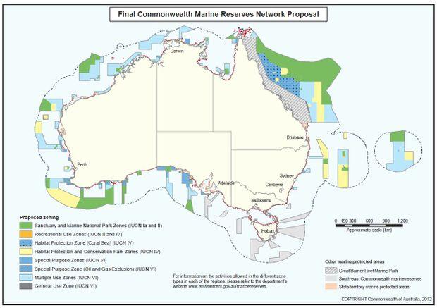 The new Commonwealth marine reserves will add more than 2.3 million square kilometres to Australia's marine reserve estate.