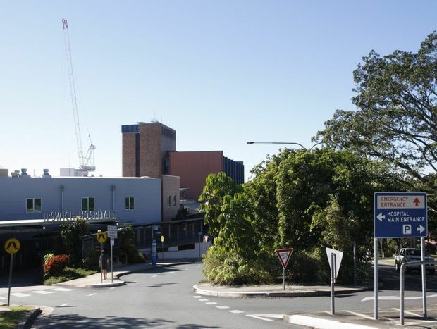 The crane at Ipswich Hospital which created a spectacular sight to Ipswich residents.
