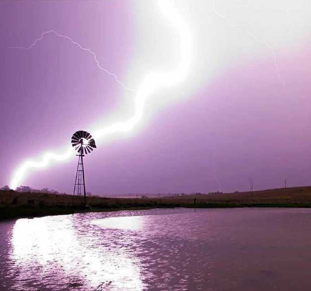 Phil Rettke had his camera at the ready when the first storm hit Ipswich on Saturday, and his preparation paid off. The Ipswich photographer, who runs Phil Rettke Photography, captured this amazing shot of lightning striking over Willowbank.