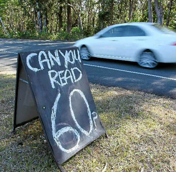 DESPERATE ATTEMPT: The sign on Crosby Hill Rd.