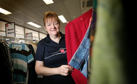 Gwen Malone from the Salvation Army, Goodna where they are calling for more donations to stock their new store. Photo: Inga Williams / The Satellite
