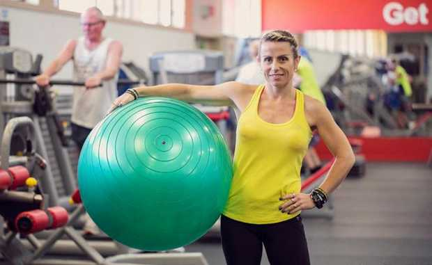 Belinda Zimmerman, program director at Breathe gym in Hervey Bay, exercised through both of her pregnancies.