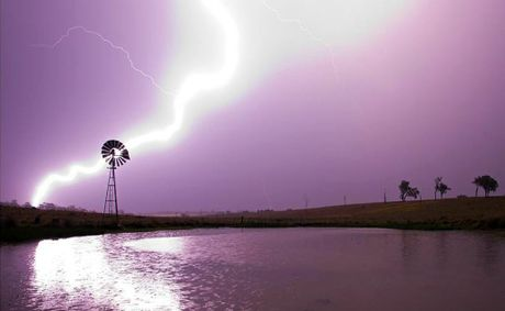 Lightning strike from Saturday's storm at Willowbank.