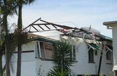 Alfred Street experienced some of the worst damage with up to four homes recieving signiificant damage to their roofs. Photo Marc Stapelberg / The Northern Star