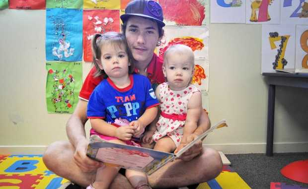 GOOD FUN: Cory Lloyd has chosen a career in childcare at the All About Kids Early Learning Centre in Eagleby. Photo: Ashleigh Howarth / The Reporter